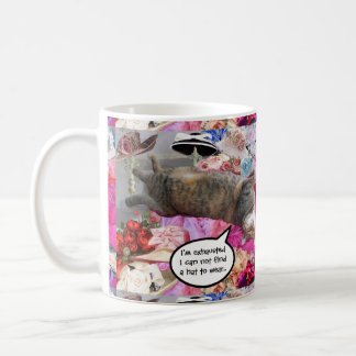 Dilemma of Princess Tatus Cat Basic White Mug
