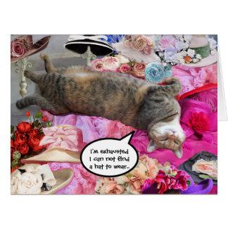 Dilemma of Princess Tatus Cat Big Greeting Card