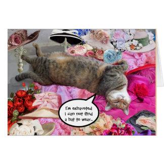 Dilemma of Princess Tatus Cat Cards