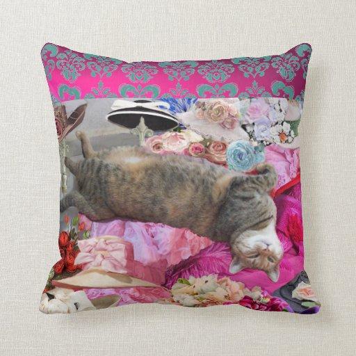 Dilemma of Princess Tatus Cat Pillows
