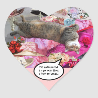 Dilemma of Princess Tatus Cat Heart Heart Stickers
