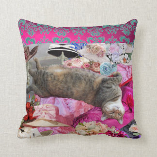 Dilemma of Princess Tatus Cat Throw Cushion