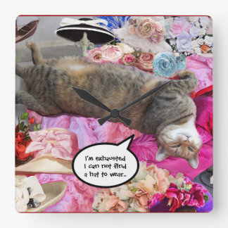 Dilemma of Princess Tatus Cat Wallclock