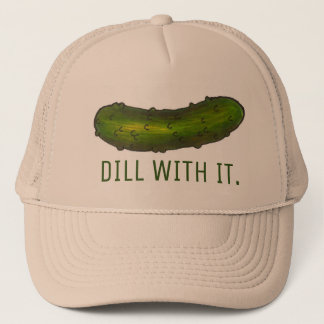 Dill (Deal) With It Green Funny Pickle Pickles Hat