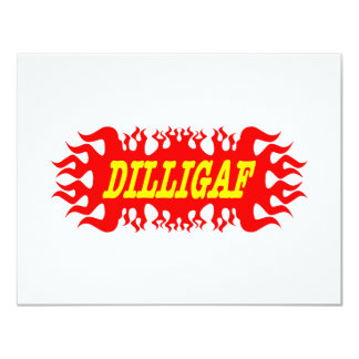 DILLIGAF Does It Look Like I Give A F 11 Cm X 14 Cm Invitation Card