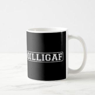 "DILLIGAF – Funny, Rude ""Do I look like I Give A ."" Basic White Mug"