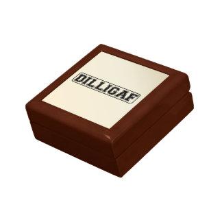 "DILLIGAF – Funny rude ""Do I look like I Give A"" Gift Box"