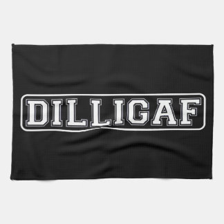 "DILLIGAF – Funny, Rude ""Do I look like I Give A ."" Tea Towel"