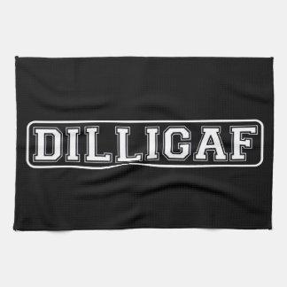 """DILLIGAF – Funny, Rude """"Do I look like I Give A ."""" Towel"""
