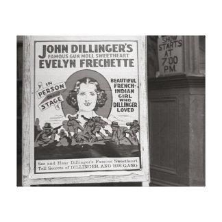 Dillinger's Gun Moll Sweetheart, 1938 Gallery Wrap Canvas