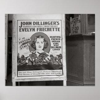 Dillinger's Gun Moll Sweetheart, 1938 Poster