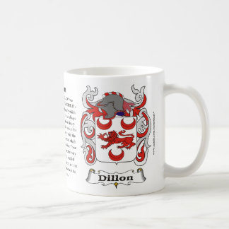 Dillon Family Coat of Arms Mug