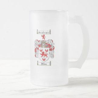 DILLON FAMILY CREST -  DILLON COAT OF ARMS FROSTED GLASS BEER MUG