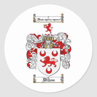DILLON FAMILY CREST -  DILLON COAT OF ARMS STICKERS