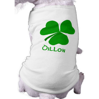 Dillon Irish Shamrock Name Shirt