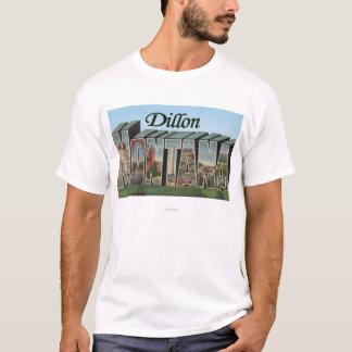 Dillon, Montana - Large Letter Scenes T-Shirt