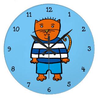 Dillon the Cat Large Clock