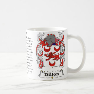Dillon, the origin, the meaning and the crest coffee mug