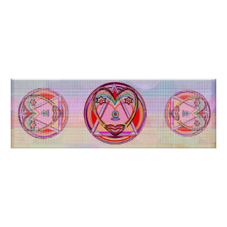 DILRUBA - SweetHeart Pure Cirlcles n Triangles Poster