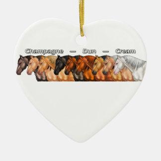 Dilute Horses Ceramic Heart Decoration