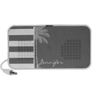 Dim Gray Horizontal Stripes; Summer Palm PC Speakers