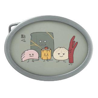 Dim Sum Pork Bao Shaomai Chinese dumpling Buns Bun Belt Buckles