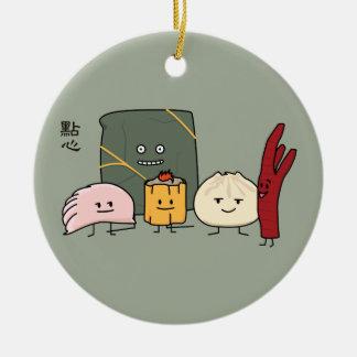 Dim Sum Pork Bao Shaomai Chinese dumpling Buns Bun Round Ceramic Decoration