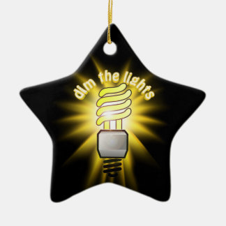 Dim The Energy Saving Light Christmas Ornament