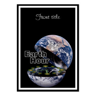 Dim The Lights For Earth Hour (Earth Open) Pack Of Chubby Business Cards