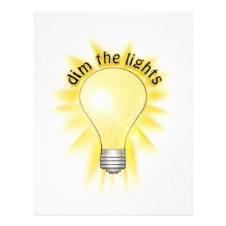 Dim the Lights - Lightbulb 21.5 Cm X 28 Cm Flyer