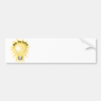 Dim the Lights - Lightbulb Bumper Stickers