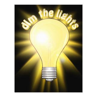 Dim the Lights - Lightbulb Full Color Flyer