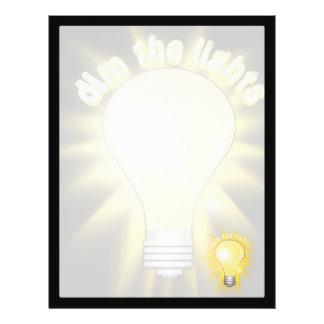 Dim the Lights - Lightbulb Flyers