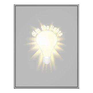 Dim the Lights - Lightbulb Flyer Design