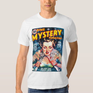 DIME MYSTERY Cool Vintage Pulp Magazine Cover Art T-shirt