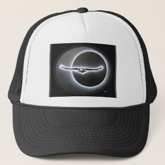 Dimensional eagle trucker hat
