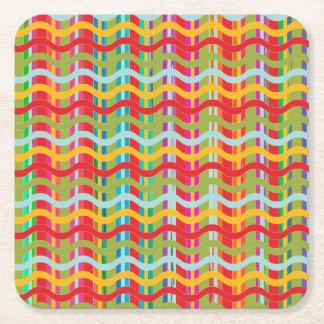 Dimensional Smiles (Shape Options) - Square Paper Coaster