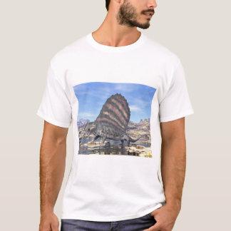 Dimetrodon standing in a pond in the desert T-Shirt