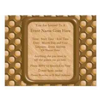 Dimple Dots - Chocolate Peanut Butter Invite