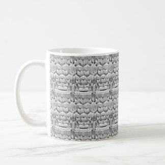 Dimpled pint beer glass basic white mug