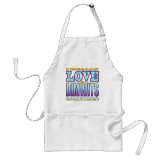 Dimwits Love Face Standard Apron