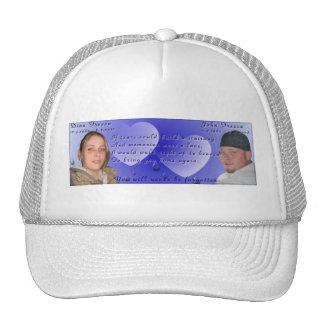 Dina and John memorial photo hat