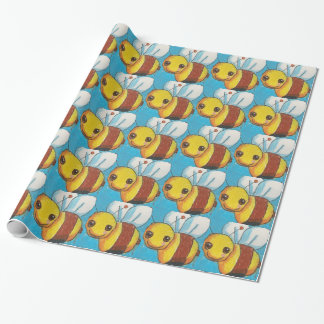Dina Bumble Bee Wrapping Paper
