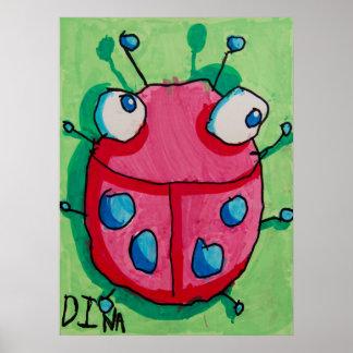 Dina Ladybug poster 20x16
