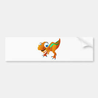 Dina The Dinosaur Car Bumper Sticker