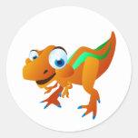 Dina The Dinosaur Round Stickers