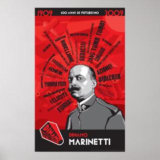 Dinamo Futurista Marinetti Zang Tumb Tumb Poster