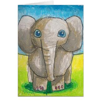 Dina's Elephant Card