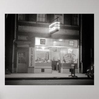 Diner at Night, 1940. Vintage Photo Poster