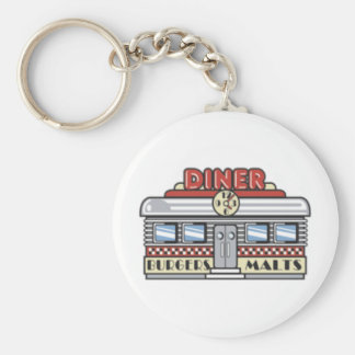 Diner Basic Round Button Key Ring
